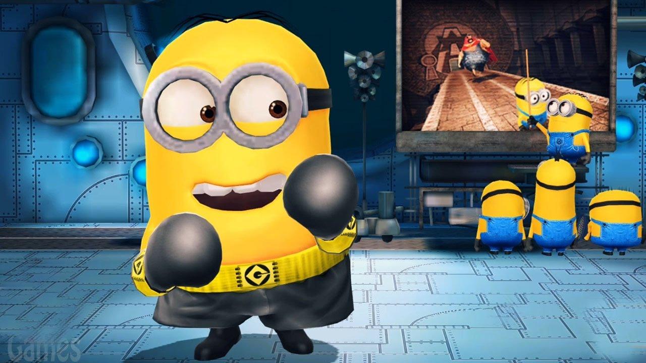 Despicable Me 2 - Minion Rush   Boxer Minion With Upgraded Costume Vs El  Macho ! - YouTube 5cdf8d1138