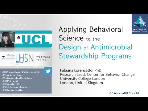 Applying Behavioural Science to Design Hospital Antimicrobial Stewardship Programs