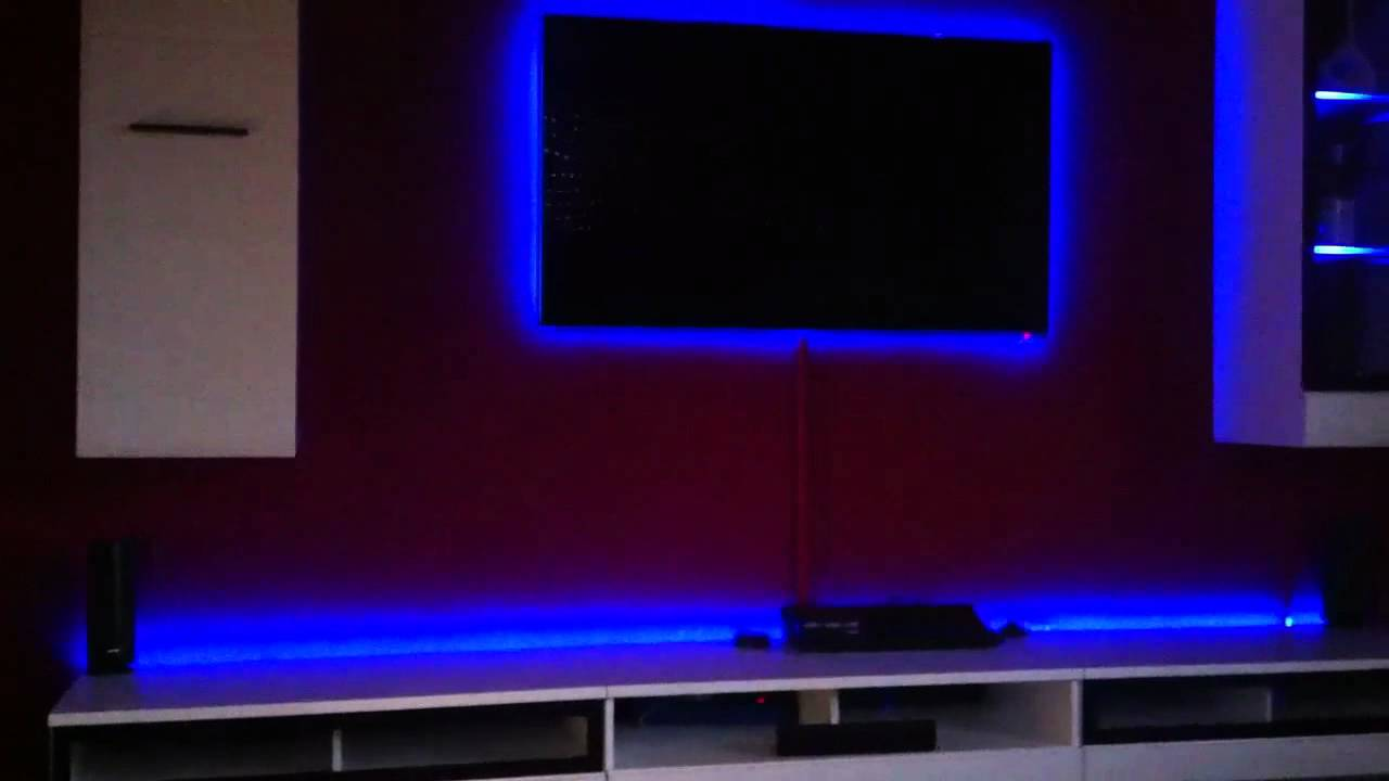 Samsung UED 7090 - Custom LED Setting - Gaming Room Full HD - YouTube for Led Strip Lights Gaming Room  75sfw
