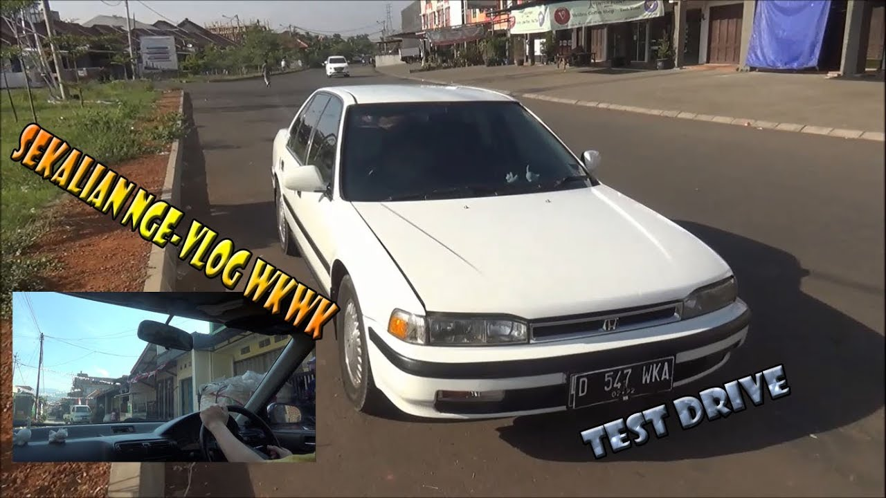 test drive honda accord maestro sm4 1990 + sekalian nge-vlog