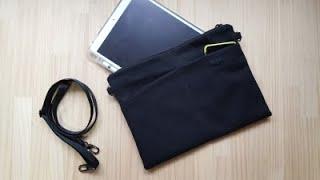 아이패드 블랙가방2 앞포켓과 뒷지퍼달기 1