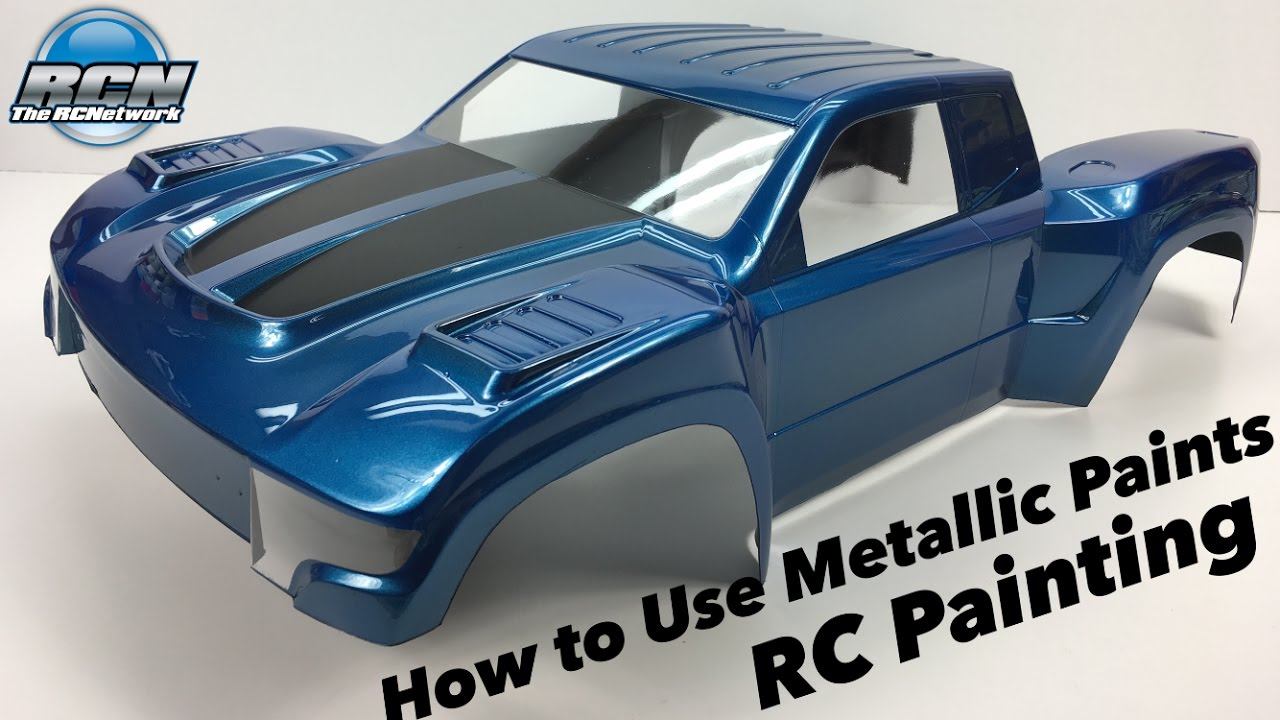 How to paint your rc body with metallic paints pactra for How to make metallic paint