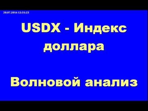 Обзор Форекс - индекс доллара США USDX на 20.07.2016г.