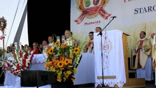 Dożynki Mazowieckie 2014 - Msza św -  rozpoczęcie