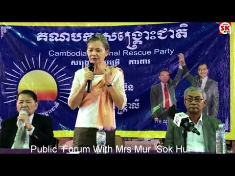 SK Media Report By Korb Sao Public Forum With  Mur  Sok Hur 11