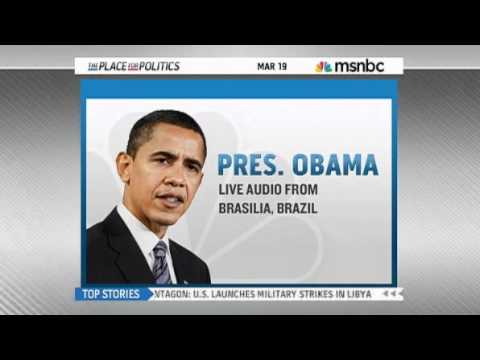 Libya - Obama addresses the American People via Radio as the US fires at targets in Libya