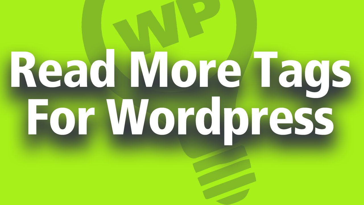 """Add A """"Read More"""" Link To Your Wordpress Posts"""