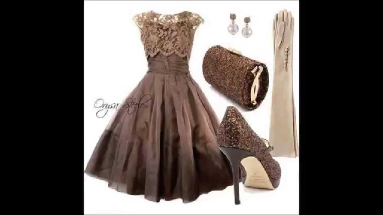 Красивые вечерние короткие платья фото - YouTube