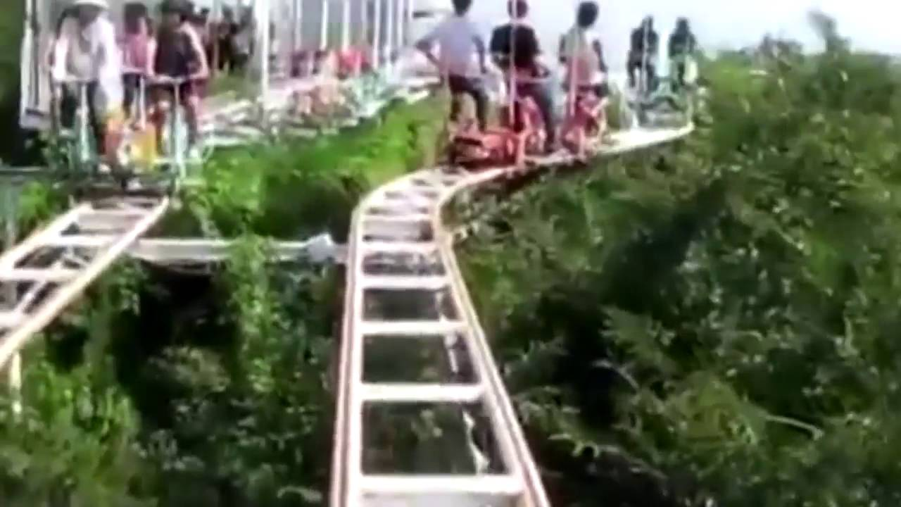 Self Cycle Rollercoaster In Japan Could Be The Most Terrifying - Pedal powered skycycle rollercoaster japan amazing