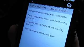 iLAND Diagnostic App: Late Model Range Rover Parking Brake Setting And Unjamming Procedures
