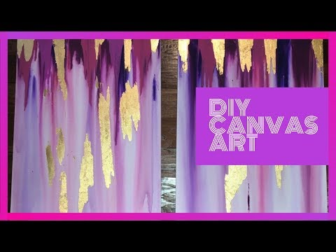 DIY Canvas Drip Paint Wall Art