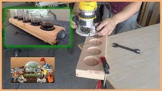 Como hacer un Portavasos  en madera para vino o cerveza - wine or beer paddle