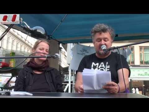 """Kurto Wendt & Eva Schönhuber. Aktion """"Die schweigende Mehrheit sagt JA"""" by RussianAustria (Full HD)"""