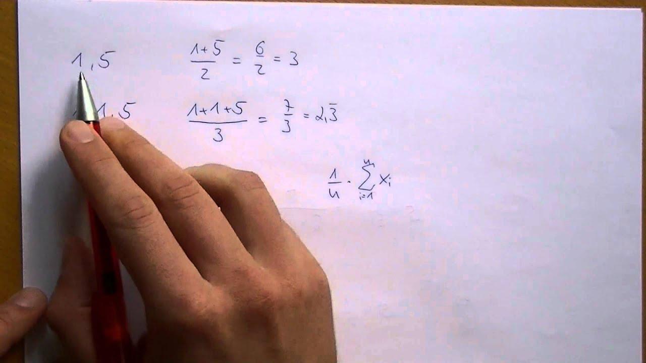 Arithmetisches Mittel - YouTube