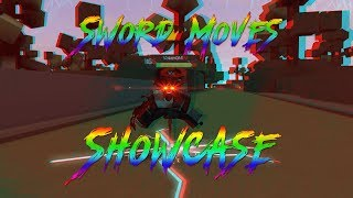 SWORD MOVES SHOWCASE! HEROES ONLINE | ROBLOX