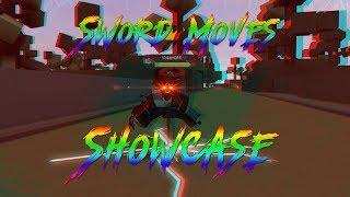 SWORD MOVES SHOWCASE! HEROES EN LIGNE ( Roblox