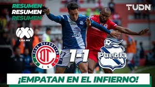 Resumen y Goles | Toluca 1 - 1 Puebla | Liga Mx - AP 19 - J 13 | TUDN