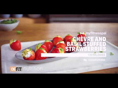 Healthy Recipes Chevre and Basil Strawberries