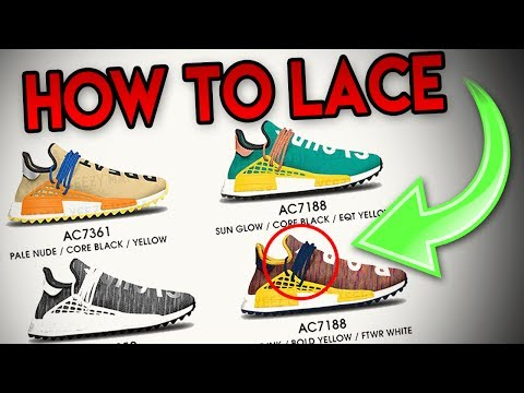 *CRAZY* METHOD TO MAKE YOUR HUMAN RACE NMD'S LOOK BETTER!!! ( LACING SYSTEM TRICK!!! )