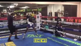 Daquan Mays Sparring at mayweather boxing club