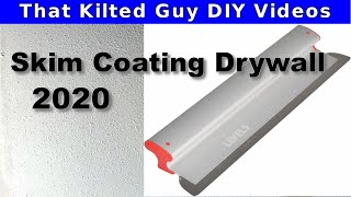 "How to Skim coat a wall FAST, with a NEW 24"" Drywall Skim Coating blade. This is game changing."