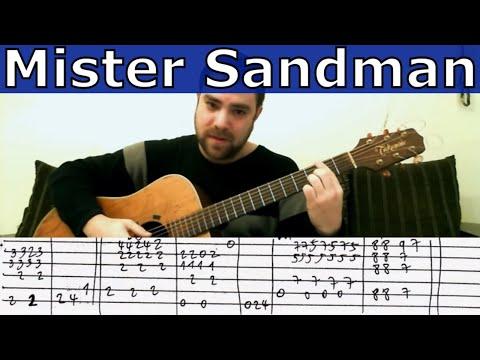 guitar tutorial mister sandman fingerstyle chet atkins 39 arrangement w tab cute blogtube. Black Bedroom Furniture Sets. Home Design Ideas