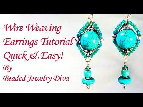 Wire Weaving Earrings Tutorial - Wire Wrapped Earrings Tutorial