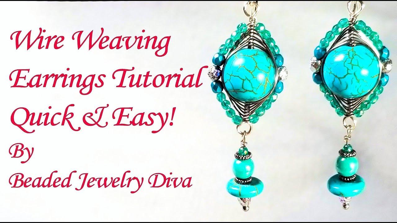 Wire Weaving Earrings Tutorial - Wire Wrapped Earrings Tutorial ...