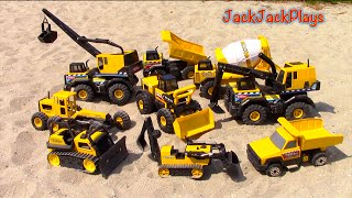Construction Vehicles for Kids - Tonka Steel Truck Collection - JackJackPlays