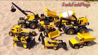 Construction Vehicles for Kids - Tonka Steel Truck Collection - JackJackPlays