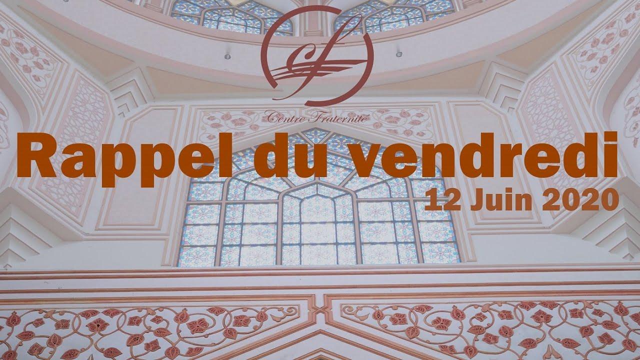 Rappel du vendredi 12/06/2020 | Centre Fraternité Lille Fives