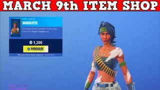 Fortnite Item Shop (March 9th) | *NEW* BABDOLETTE SKIN & MACHETE PICKAXE!