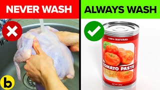 Prevent Food Poisoning By Never Washing These Foods