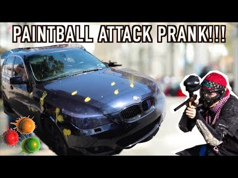 PAINTBALL ATTACK PRANK!!! (GONE WRONG)