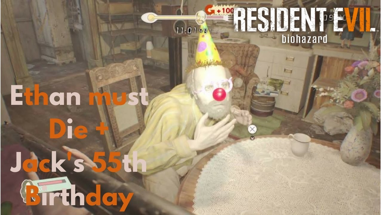 Resident Evil 7 Biohazard Ethan Must Die + Jack's 55th ...