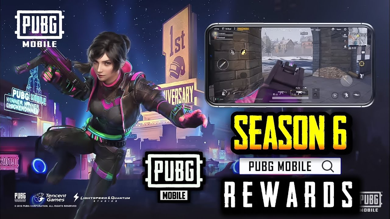 PUBG MOBILE SEASON 6 ROYALE PASS REWARDS LEAKS !