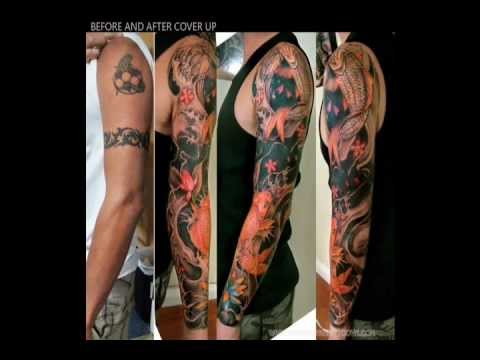 Full Arm Tattoo Cover Up Wmv Youtube