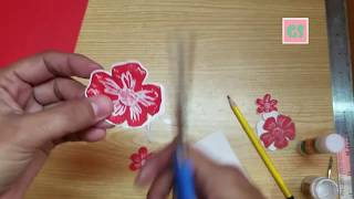 How to Create Stampin'up type Paper flowers for craft Project( Full video Tutorial)