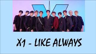 X1 - Like Always Lyrics [Rom+Indo]