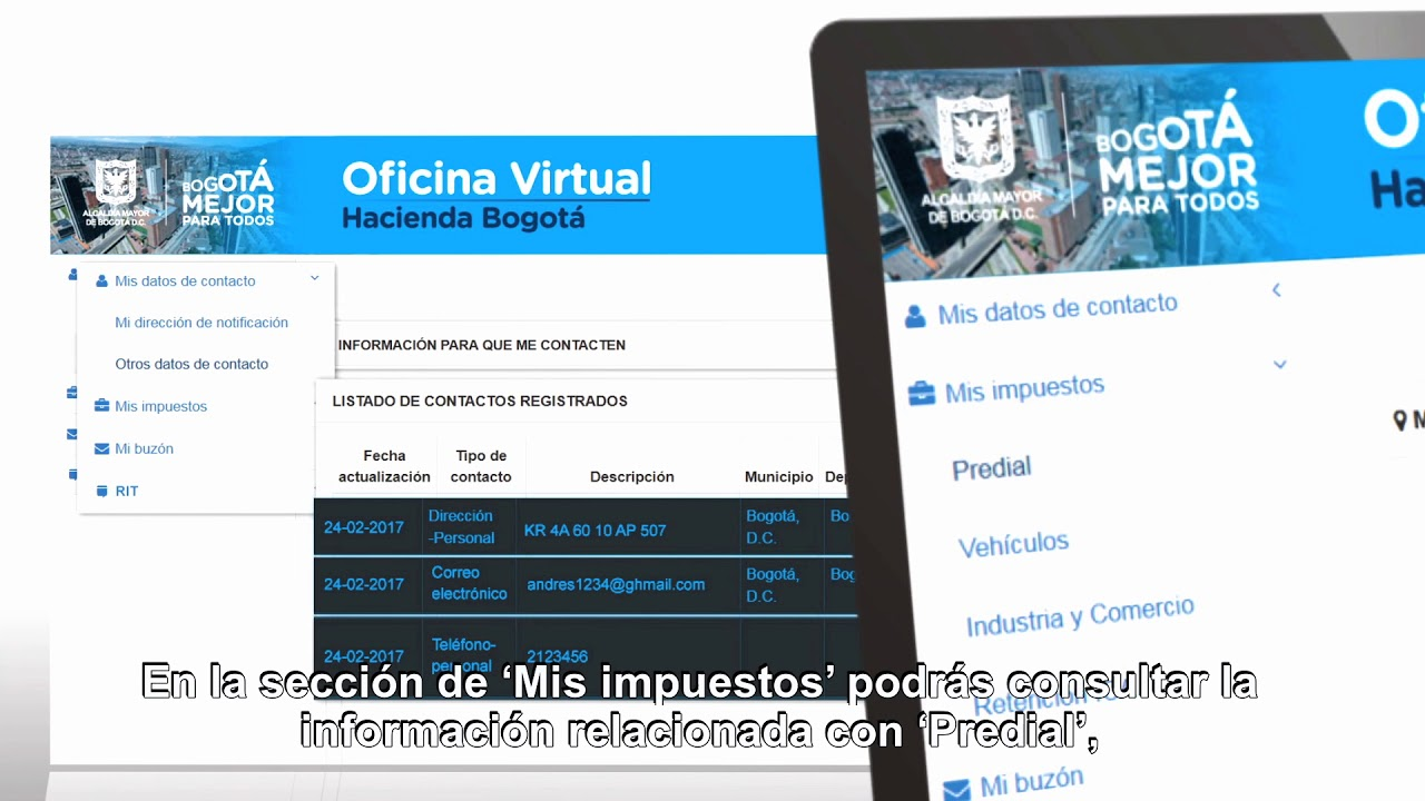 Bogot cuenta con oficina virtual de impuestos youtube for Oficina virtual hacienda