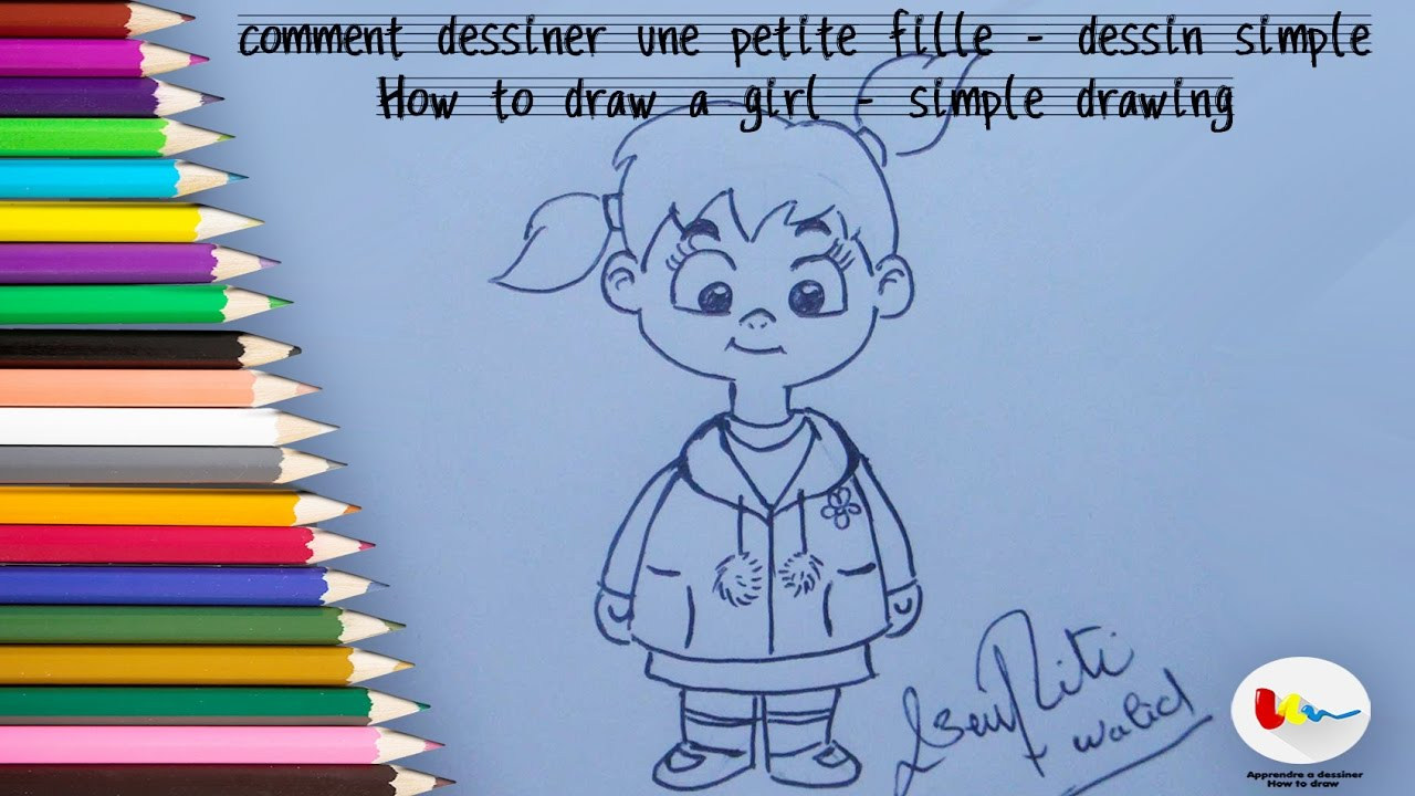 Fille Facile A Dessiner