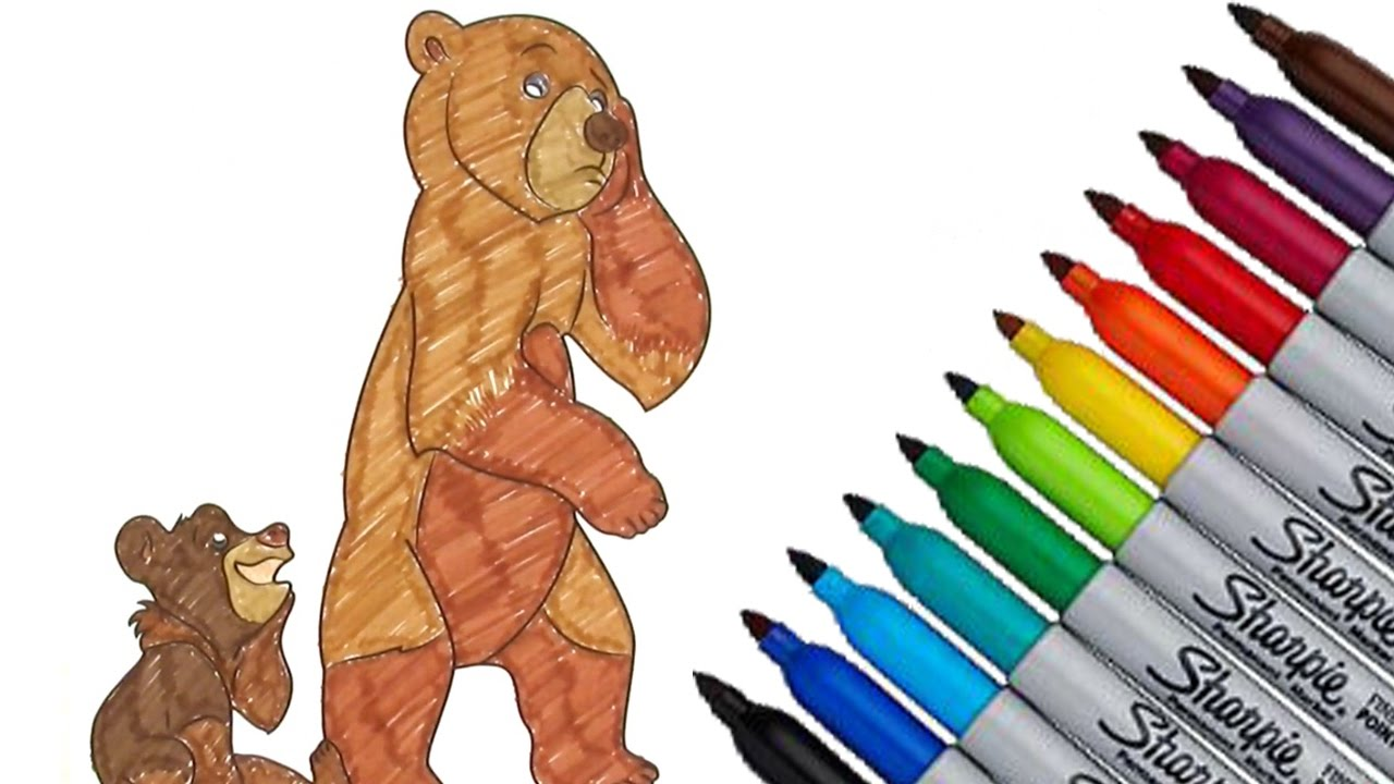 brother bear disney movies coloring page 2016 new hd video for