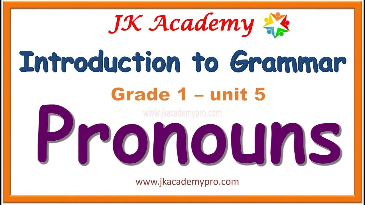 pronouns   pronouns in english grammar   pronouns grade 1   pronouns class  1  pronouns std 1   - YouTube [ 720 x 1280 Pixel ]