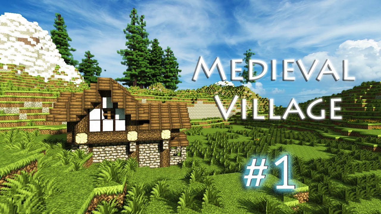 Minecraft let 39 s build a medieval village part 1 youtube for Simple village house design picture