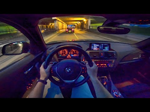 BMW M135i Armytrix w/ Ford Mustang Bullitt LOUD! NIGHT DRIVE POV by AutoTopNL