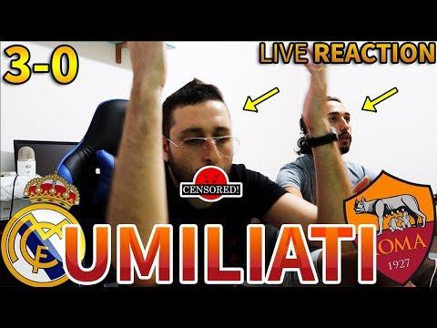 MA VAFFANC*LOOO Real Madrid-Roma 3-0  REACTION