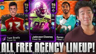 ALL FREE AGENT TEAM! BRADY, CLOWNEY, AJ GREEN! Madden 20 Ultimate Team