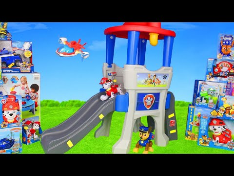 Paw Patrol Unboxing: Lookout Surprise w/ Fireman Marshall, Ryder, Chase, Skye & Rubble Pups for Kids