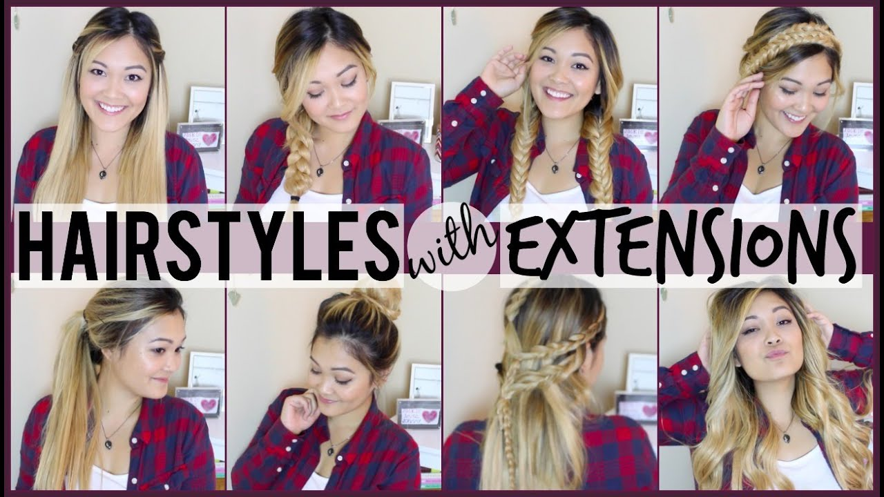 8 Easy Hairstyles To Do With Hair Extensions - YouTube