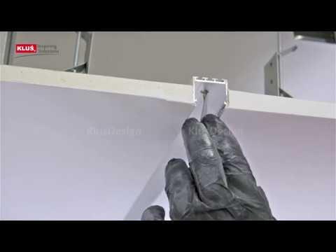 Врезной алюминиевый профиль скрытого типа (монтаж)